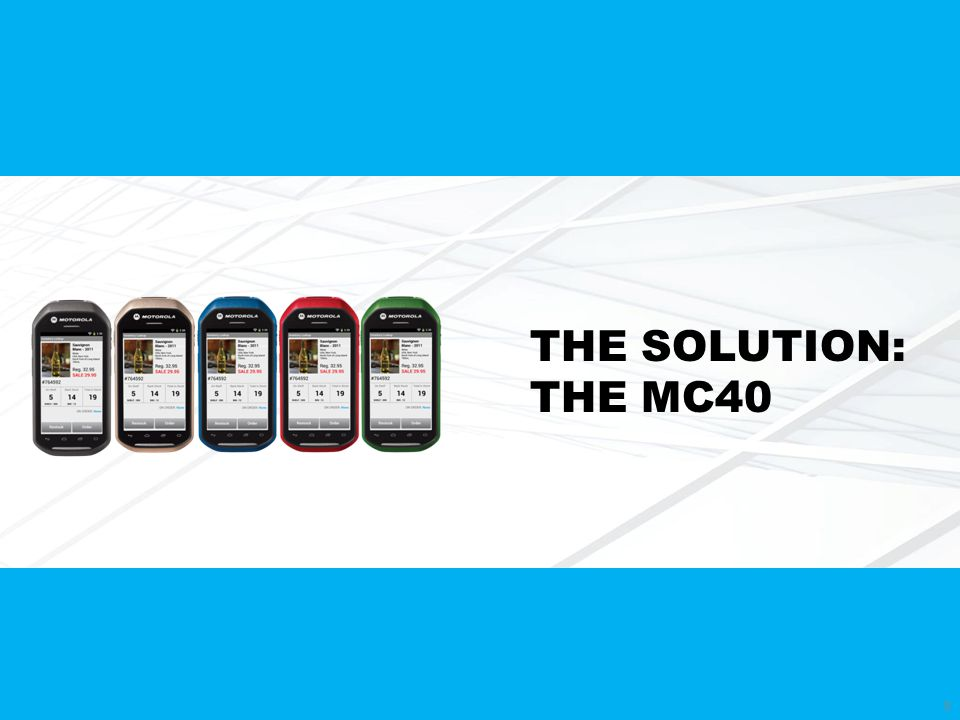 THE SOLUTION: THE MC40