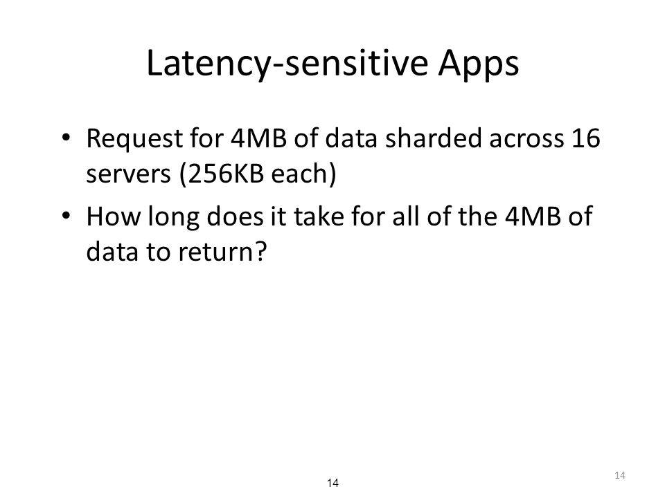 Latency-sensitive Apps
