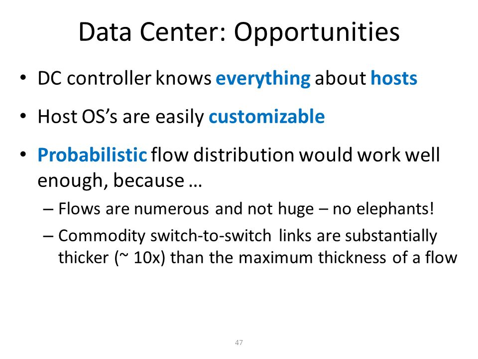 Data Center: Opportunities