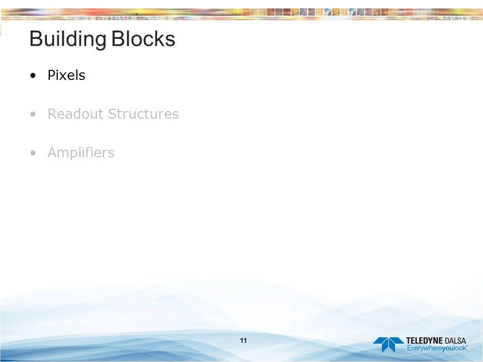 Building Blocks Pixels Readout Structures Amplifiers