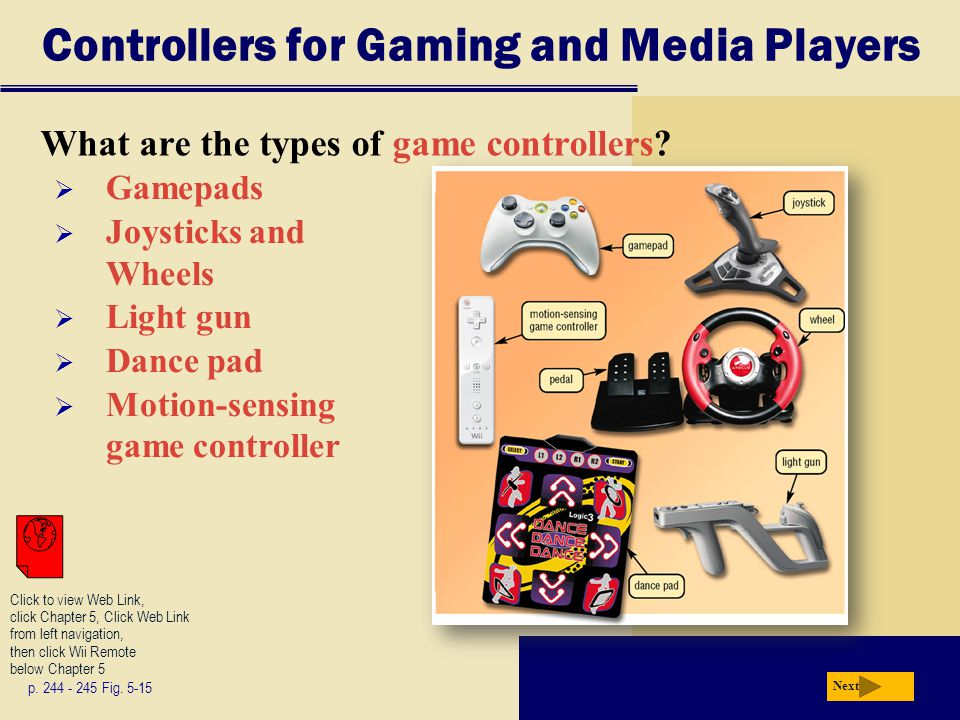 Controllers for Gaming and Media Players