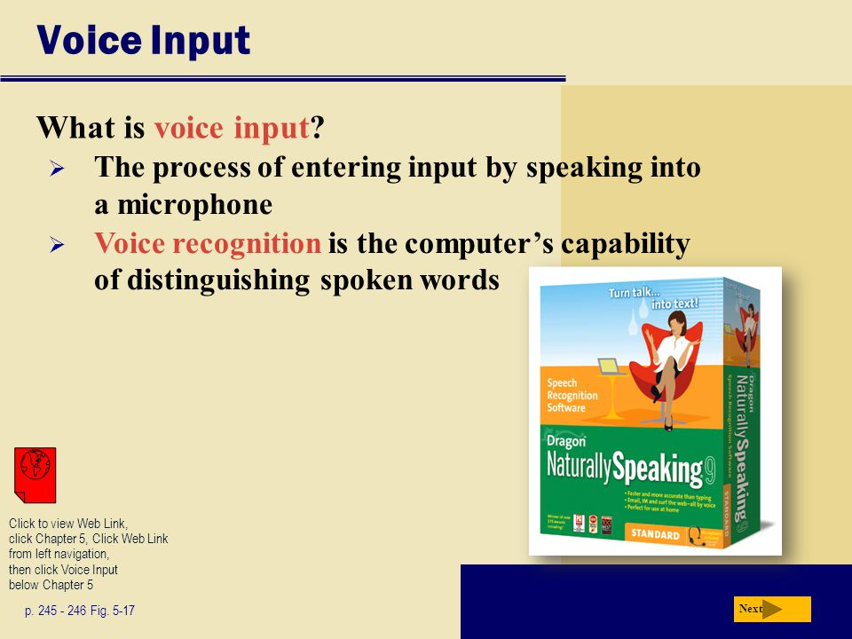 Voice Input What is voice input