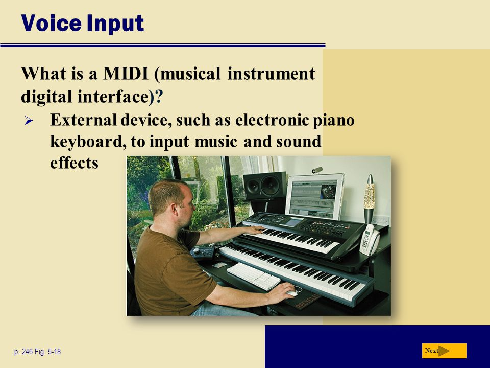 Voice Input What is a MIDI (musical instrument digital interface)