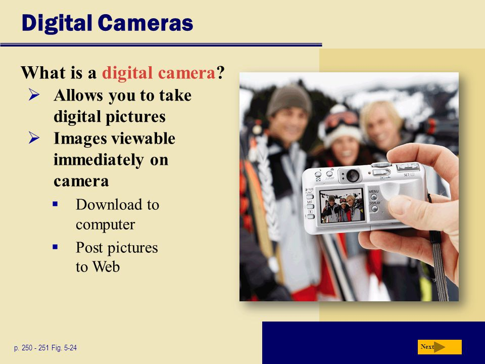 Digital Cameras What is a digital camera
