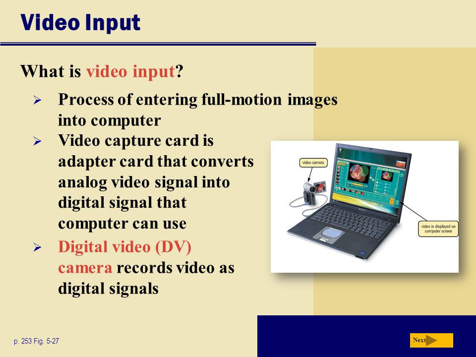 Video Input What is video input