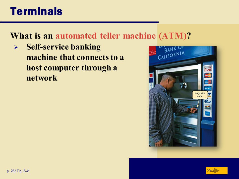Terminals What is an automated teller machine (ATM)