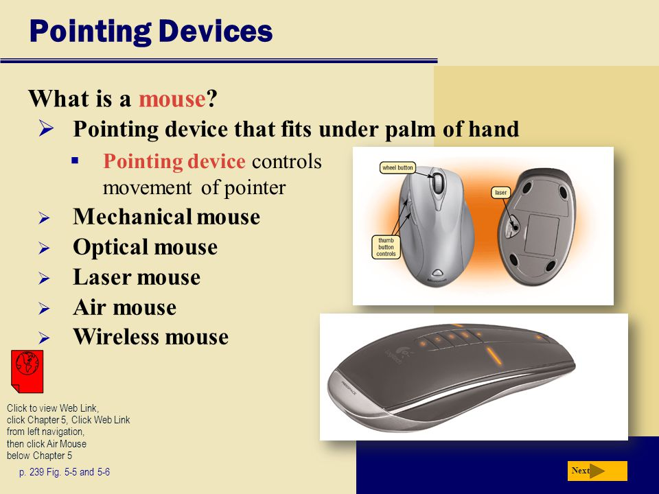 Pointing Devices What is a mouse