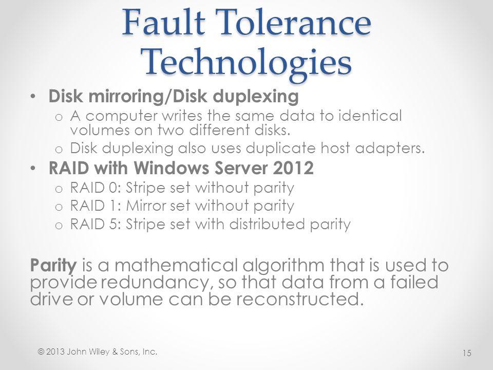 Fault Tolerance Technologies