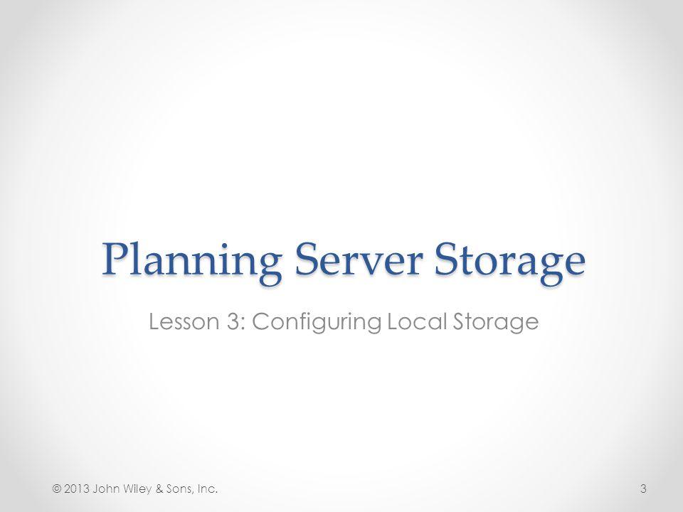 Planning Server Storage
