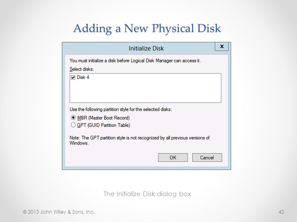 Adding a New Physical Disk