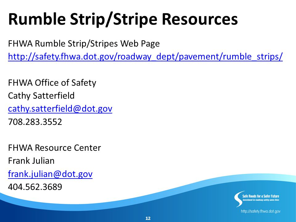 Rumble Strip/Stripe Resources