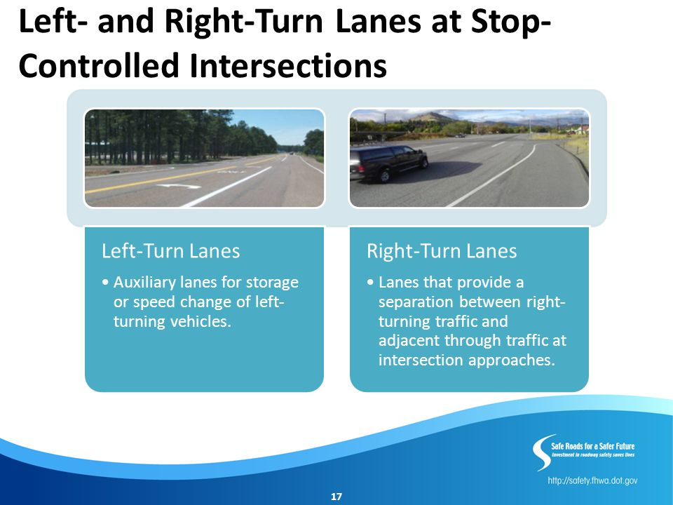 Left- and Right-Turn Lanes at Stop-Controlled Intersections