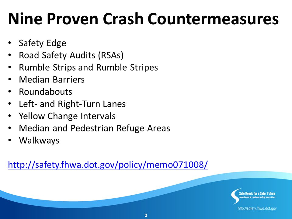 Nine Proven Crash Countermeasures