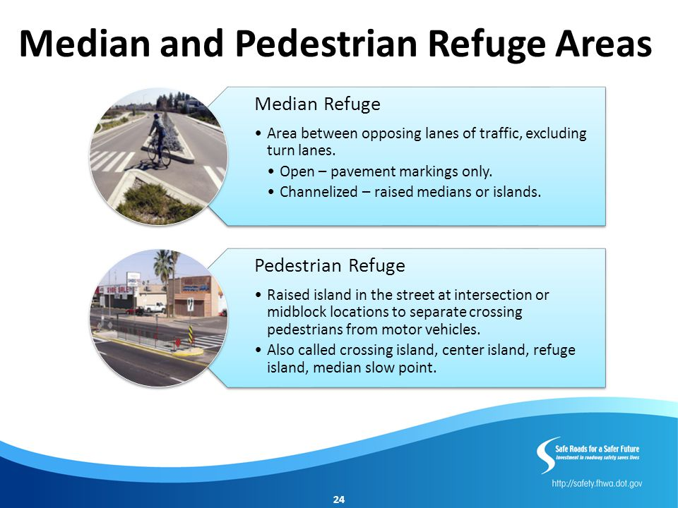 Median and Pedestrian Refuge Areas