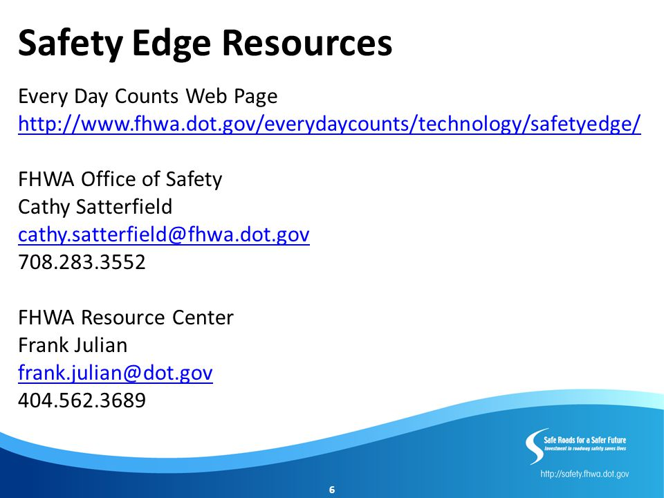 Safety Edge Resources