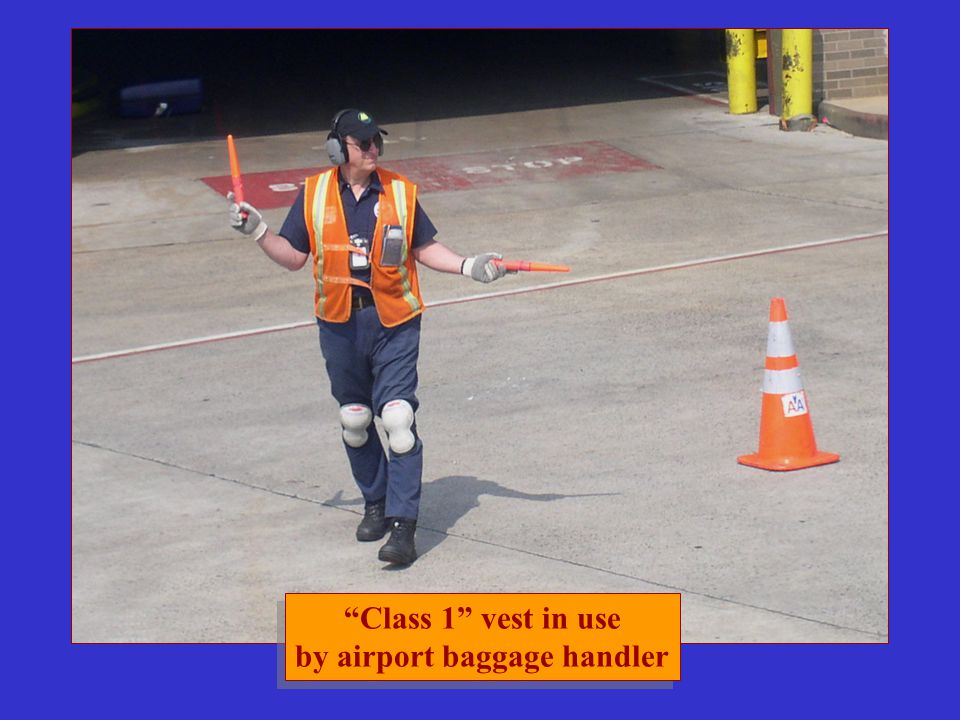 by airport baggage handler