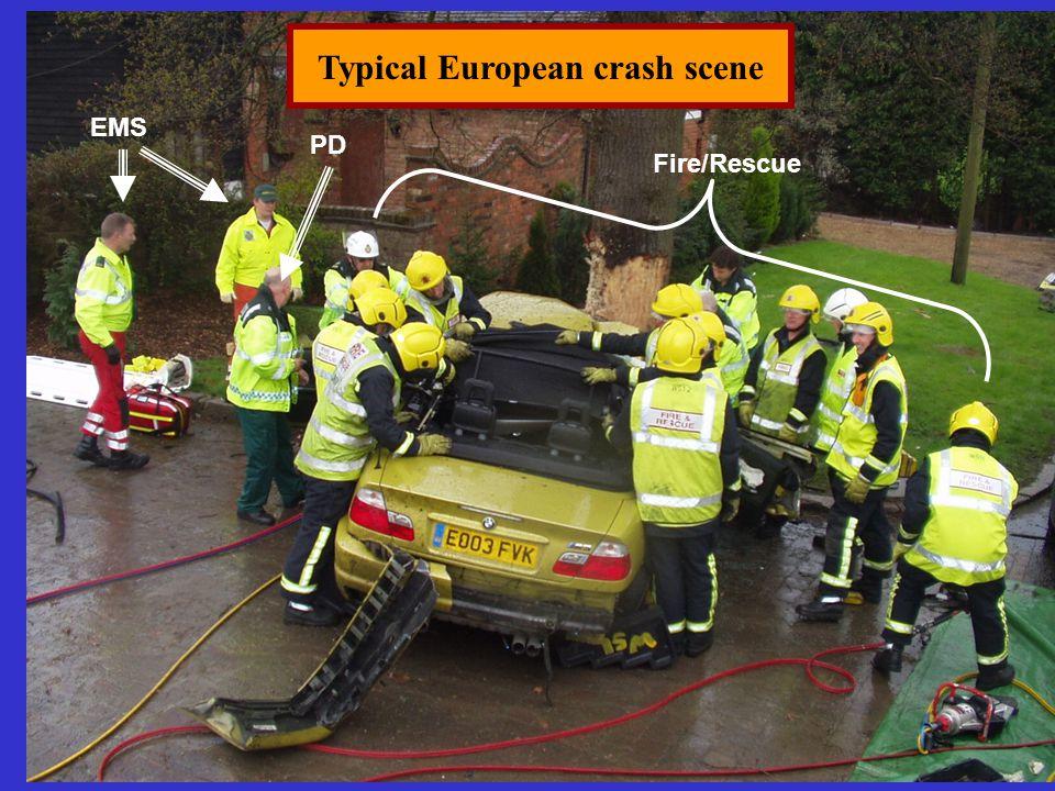 Typical European crash scene