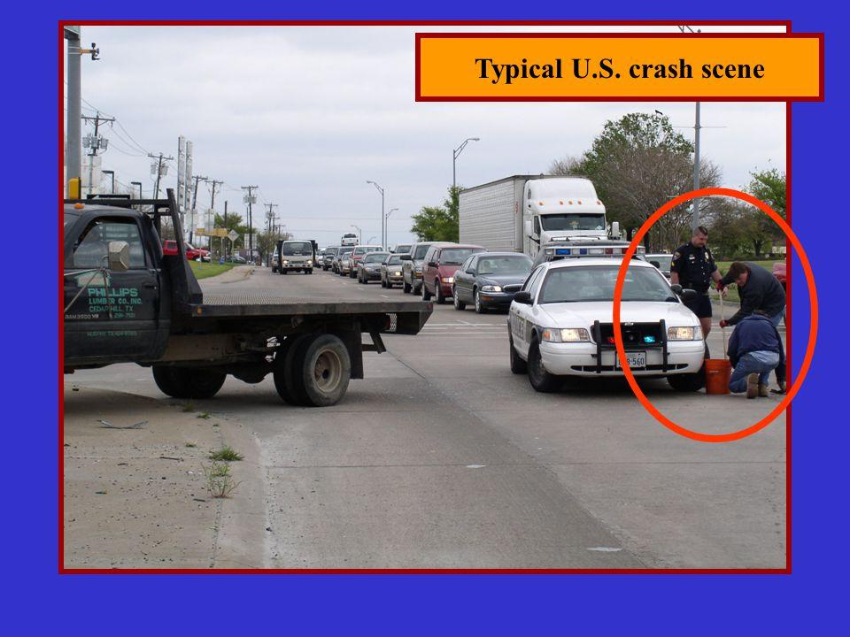 Typical U.S. crash scene