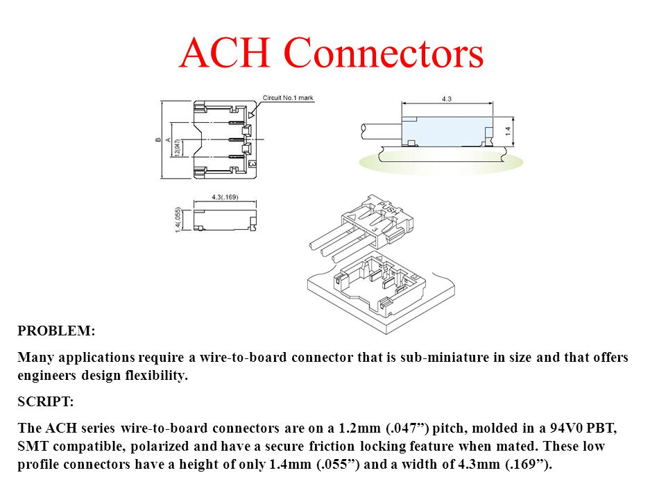 ACH Connectors PROBLEM: