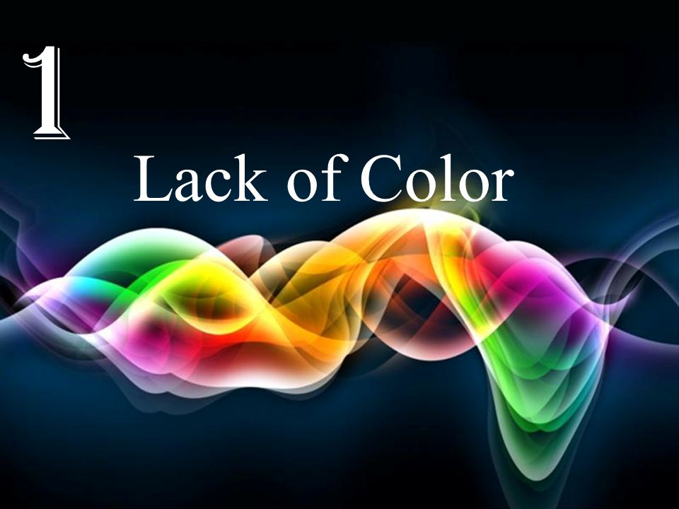 1 Lack of Color Free Powerpoint Templates