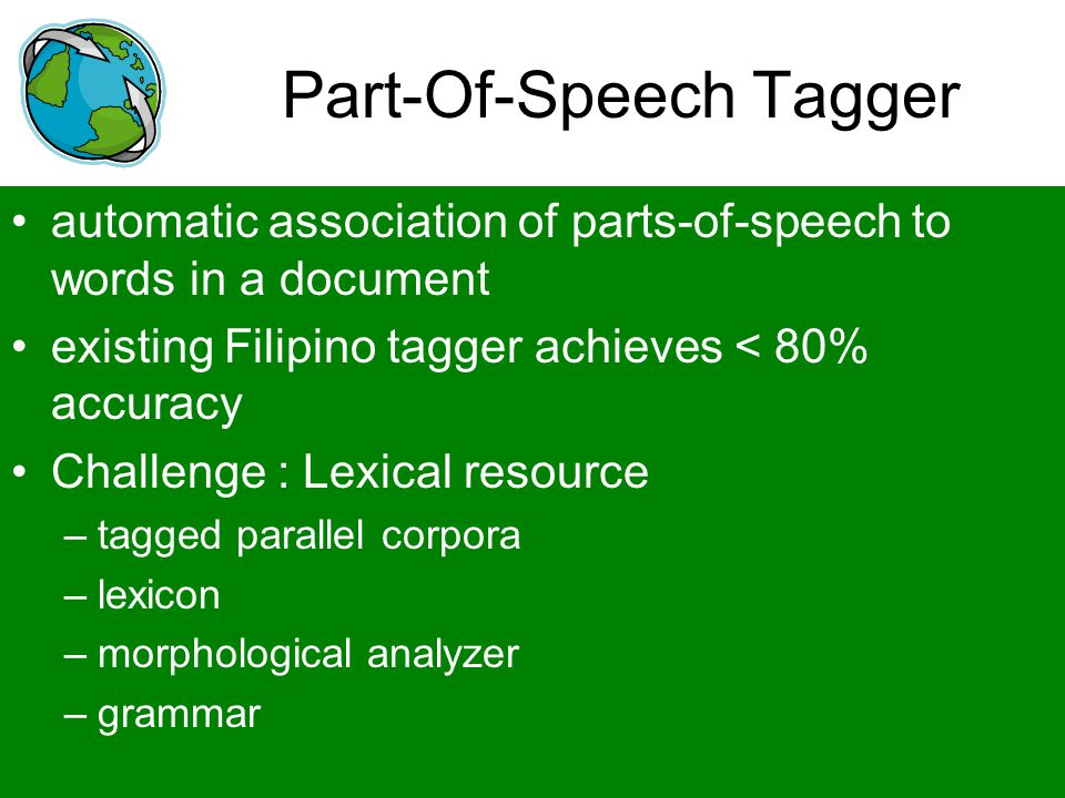 Part-Of-Speech Tagger