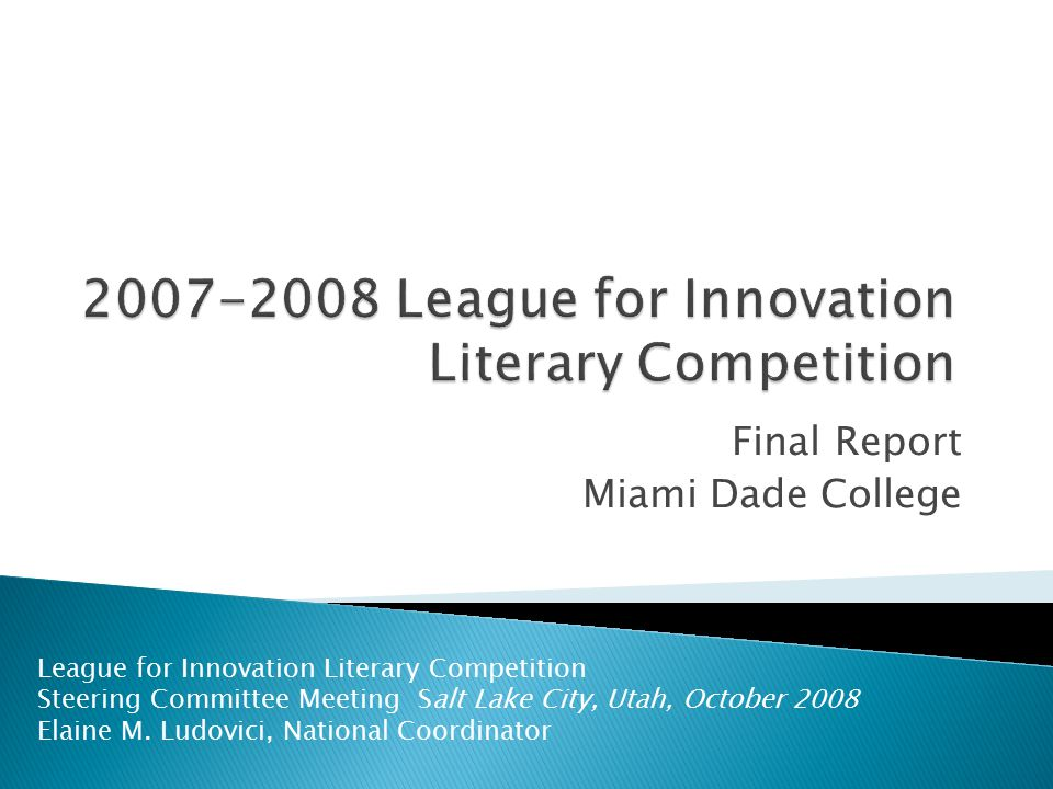 2007-2008 League for Innovation Literary Competition