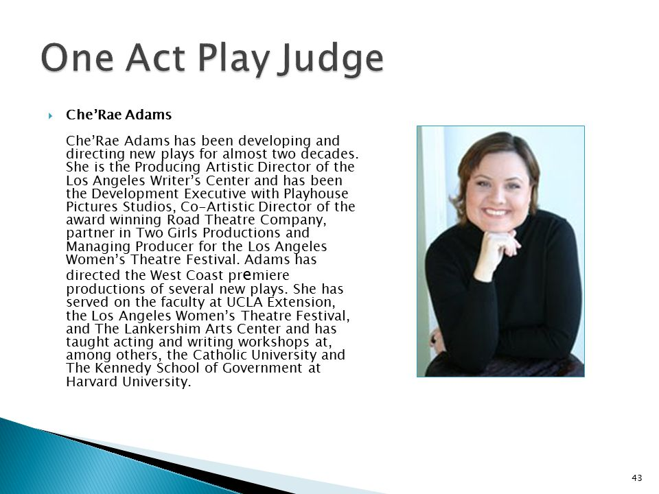 One Act Play Judge