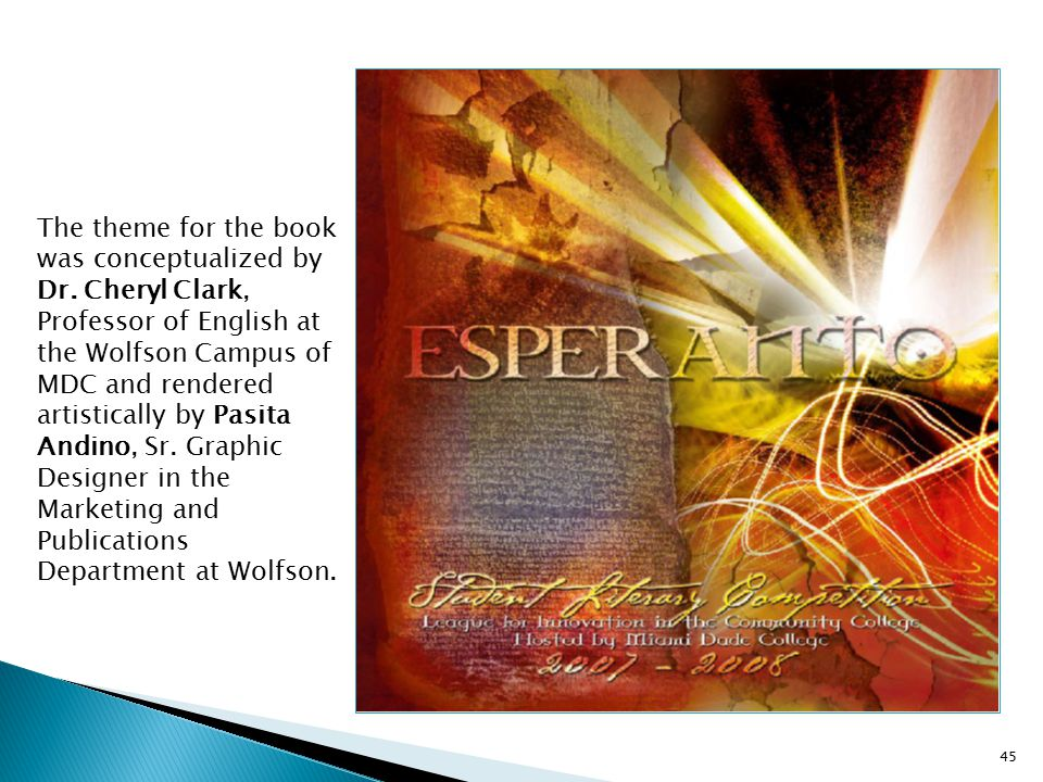 The theme for the book was conceptualized by Dr
