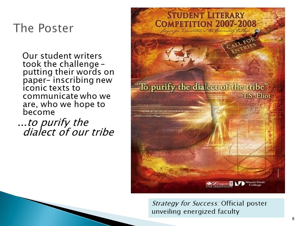 The Poster ...to purify the dialect of our tribe