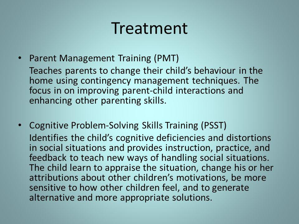 Treatment Parent Management Training (PMT)
