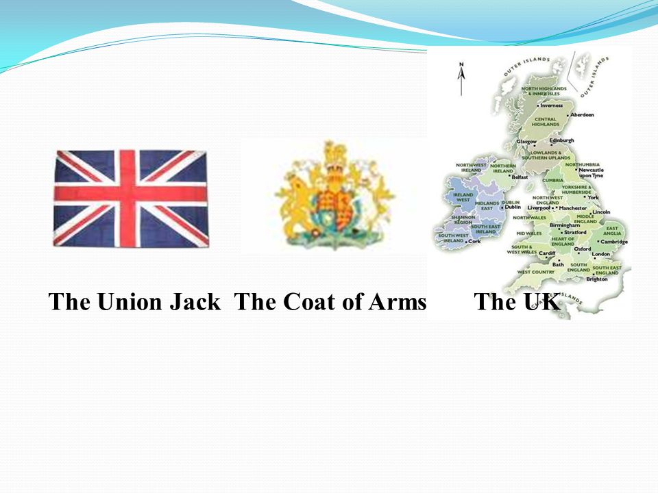 The Union Jack The Coat of Arms The UK