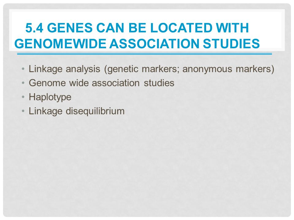 5.4 Genes Can Be Located with Genomewide Association Studies