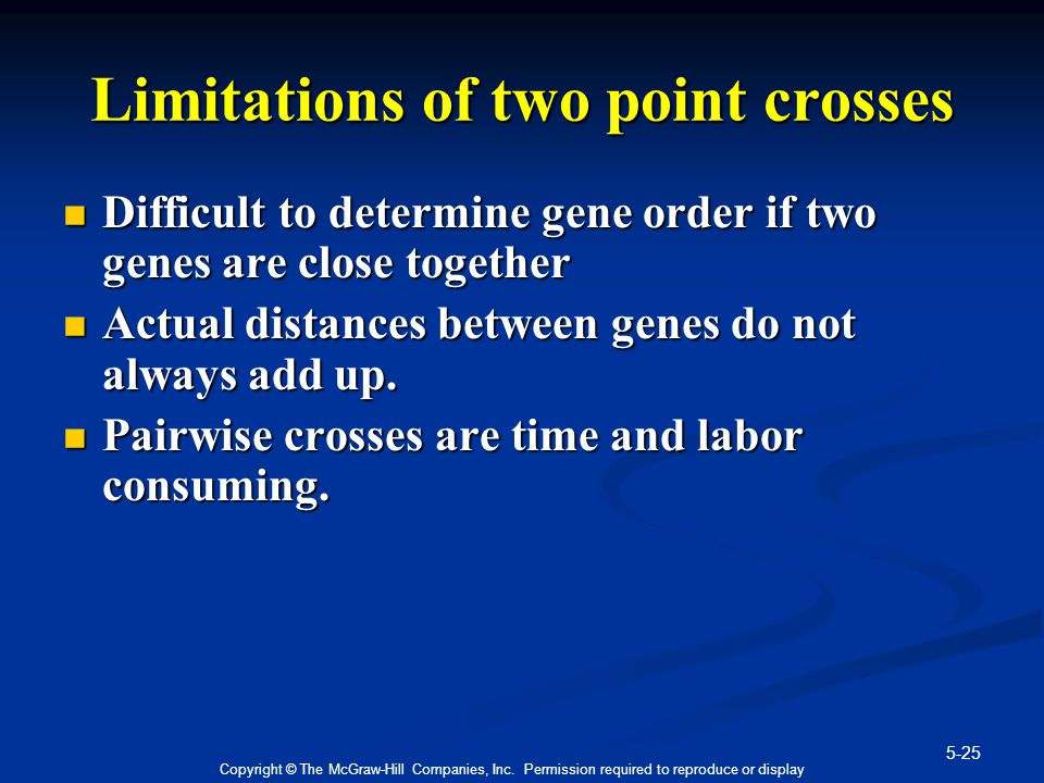 Limitations of two point crosses