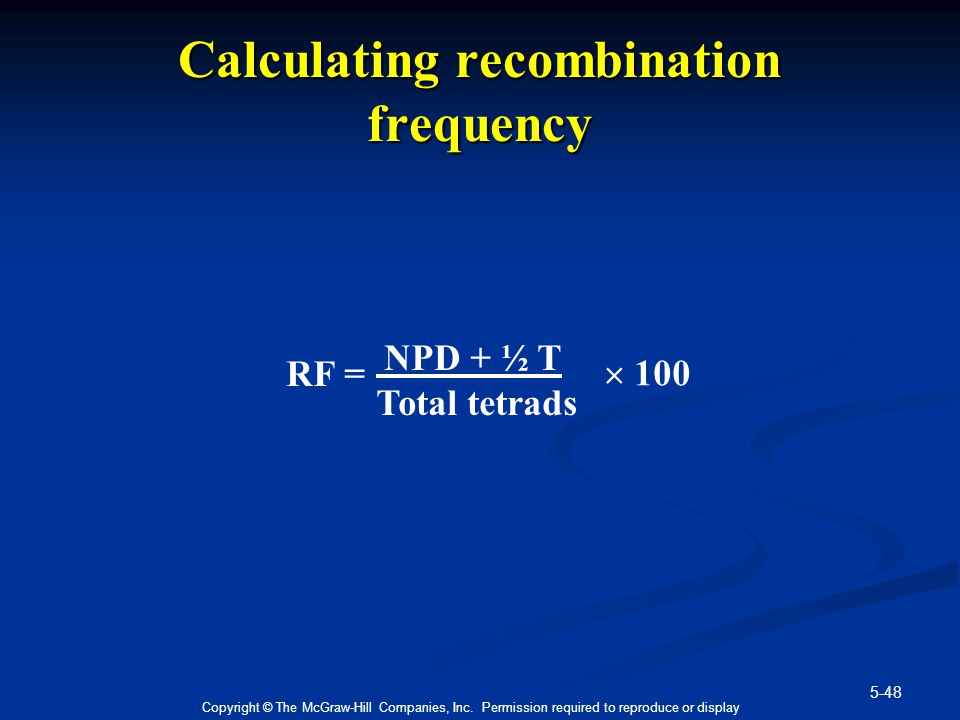 Calculating recombination frequency
