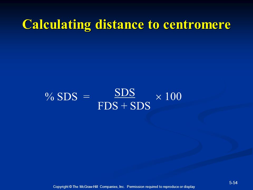 Calculating distance to centromere