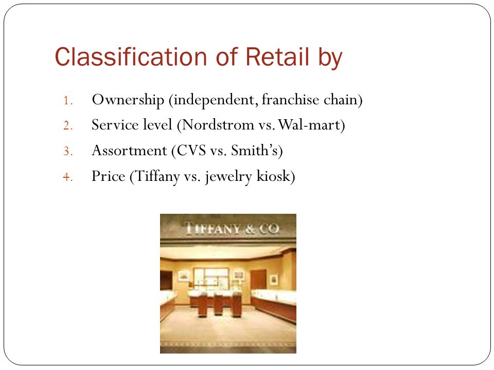 Classification of Retail by
