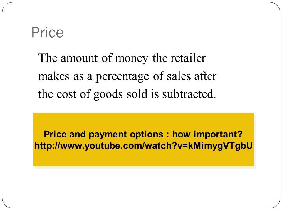 Price and payment options : how important