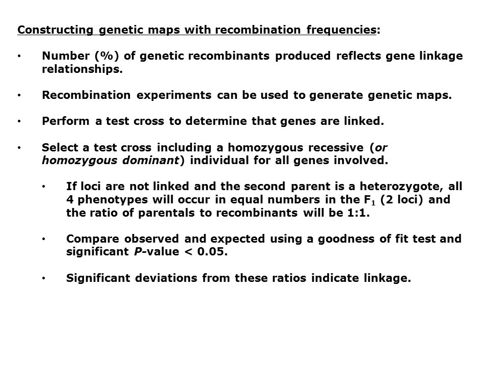 Constructing genetic maps with recombination frequencies:
