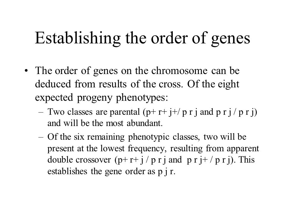 Establishing the order of genes