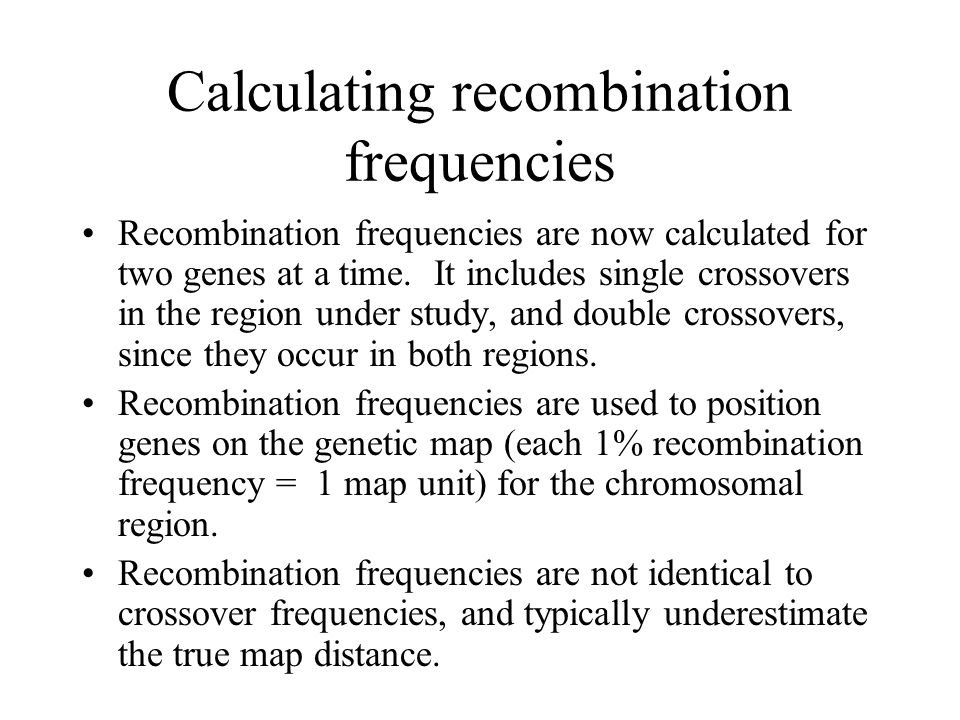 Calculating recombination frequencies