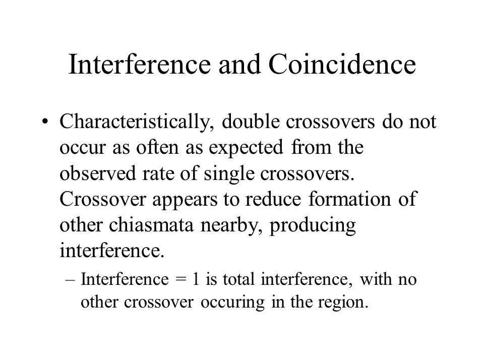 Interference and Coincidence