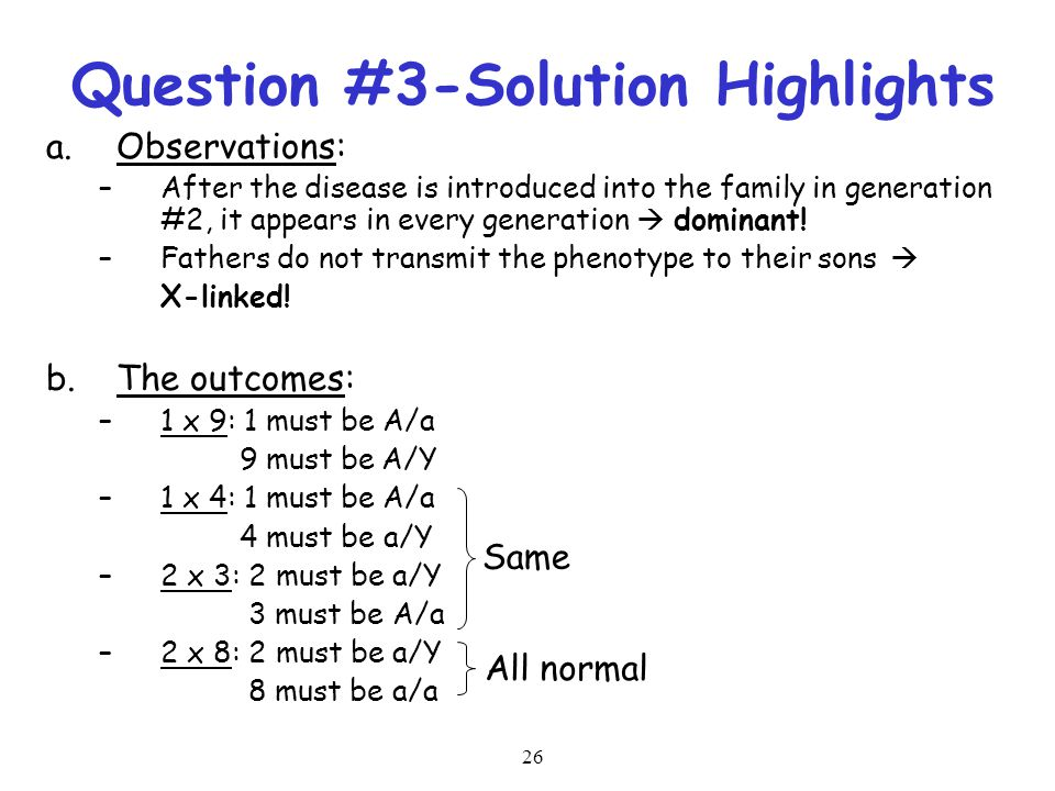 Question #3-Solution Highlights