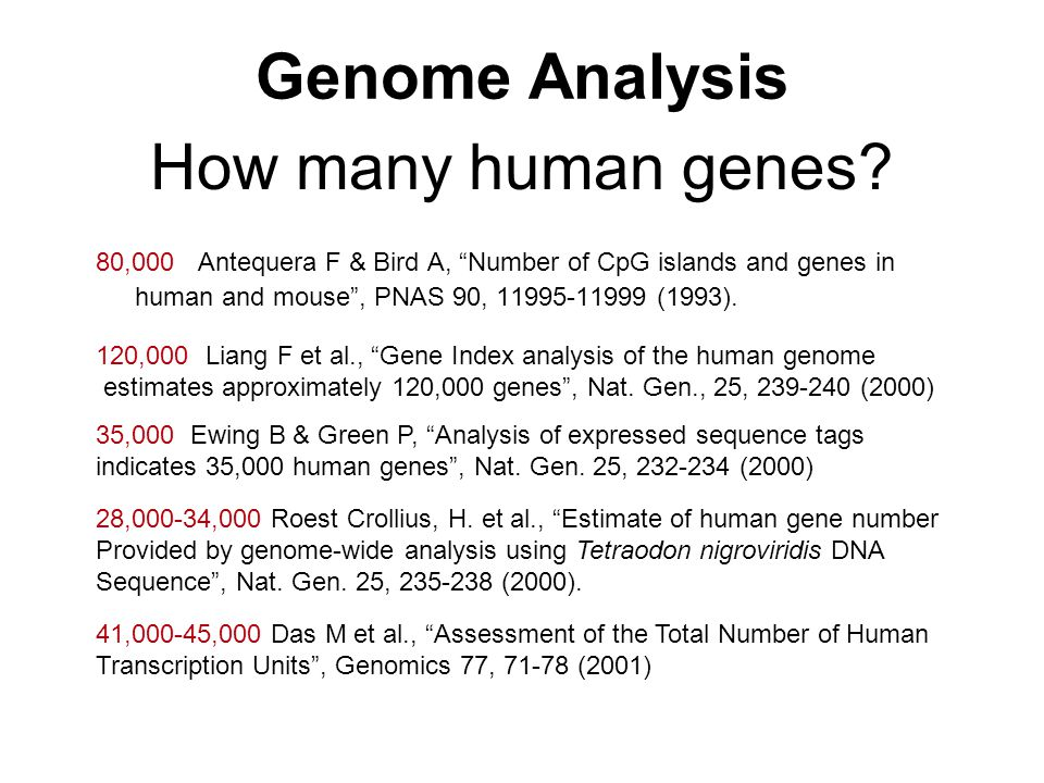 Genome Analysis How many human genes