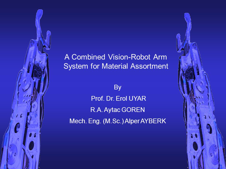 A Combined Vision-Robot Arm System for Material Assortment