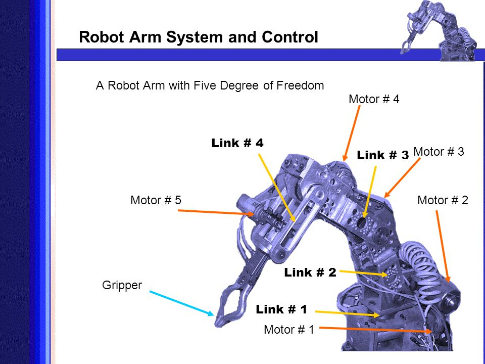 A Robot Arm with Five Degree of Freedom