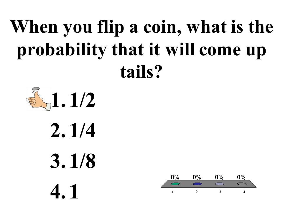 When you flip a coin, what is the probability that it will come up tails