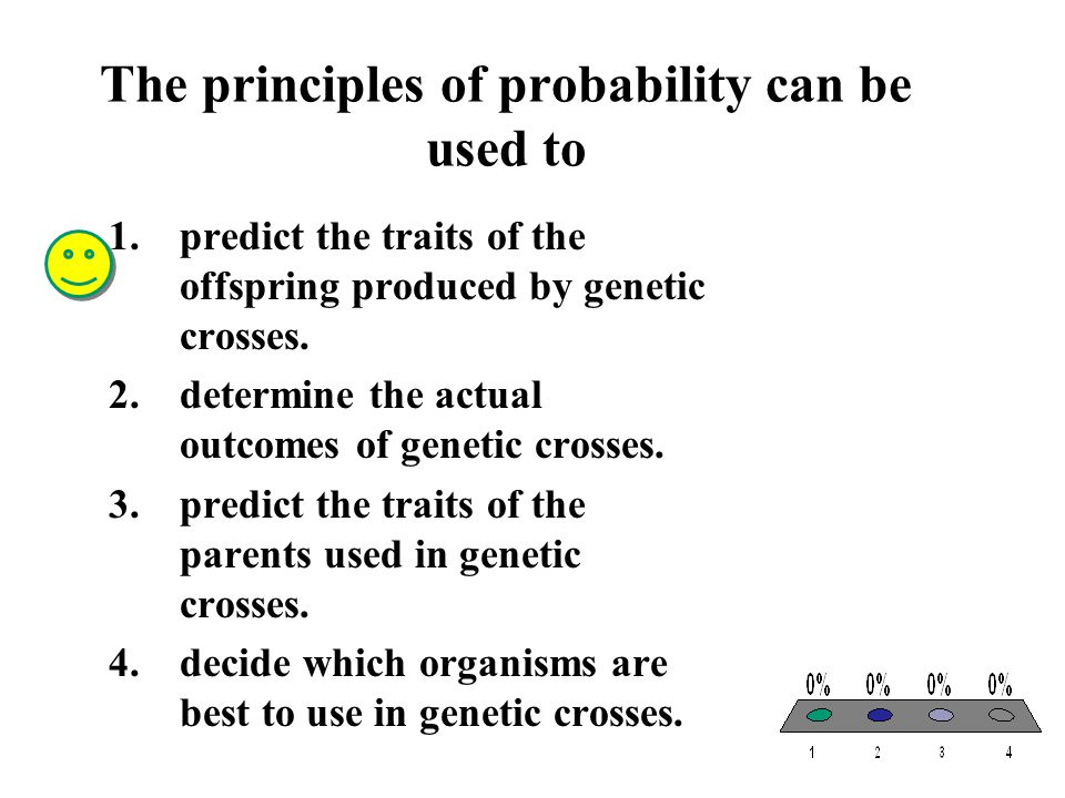The principles of probability can be used to