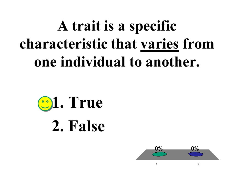 A trait is a specific characteristic that varies from one individual to another.