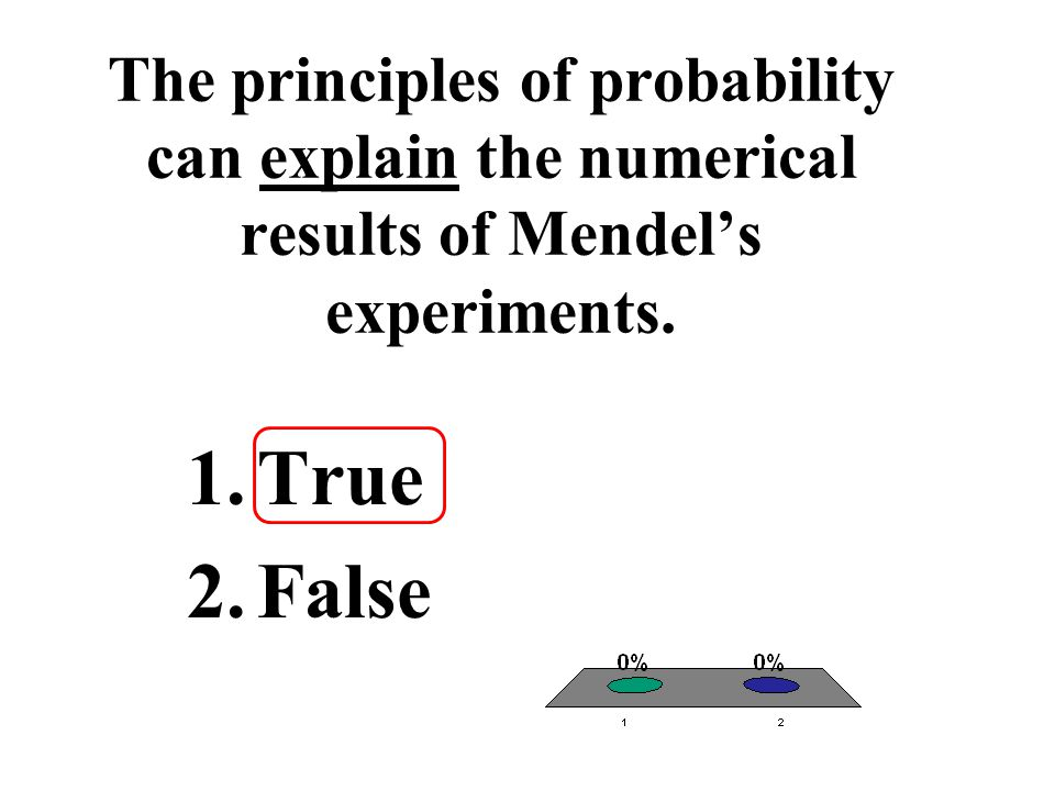 The principles of probability can explain the numerical results of Mendel's experiments.
