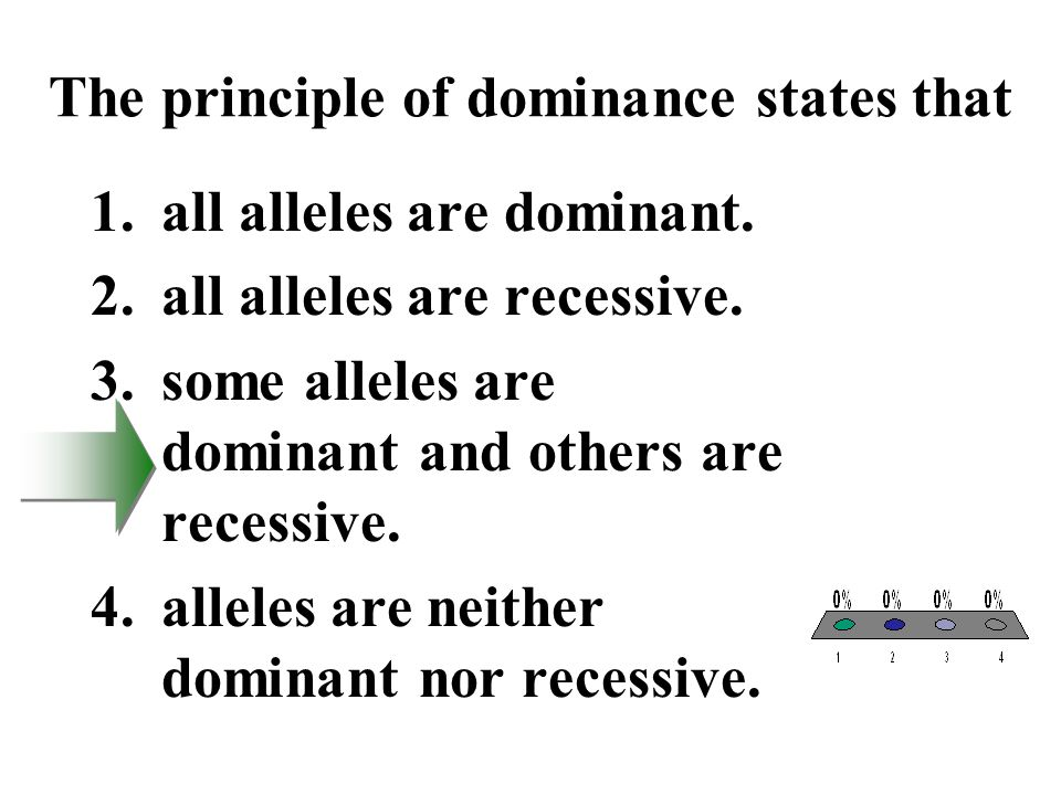 The principle of dominance states that